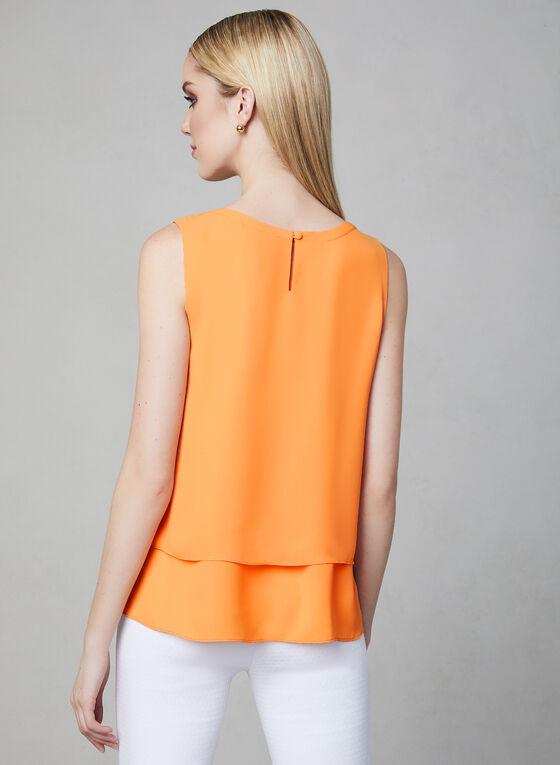 Blouse sans manches étagée, Orange, hi-res