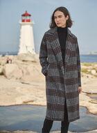 Long Plaid Coat, Grey