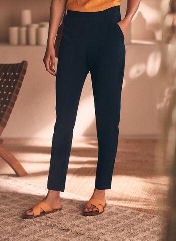 Slim Leg Pull-On Pants, Blue,  pants, slim leg, pockets, pull-on, spring summer 2020, pull on