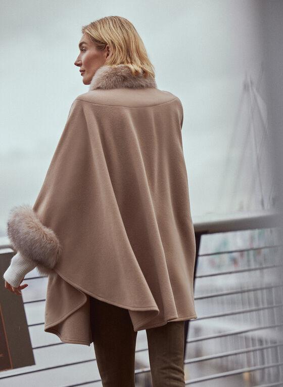 Mallia - Fur & Cashmere Blend Coat, Beige