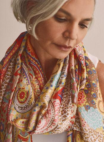 Paisley Print Lightweight Scarf, Multi,  scarf, lightweight, paisley, animal print, spring summer 2021