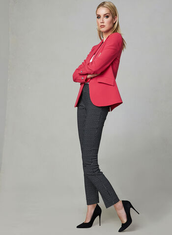 One Button Blazer, Pink, hi-res