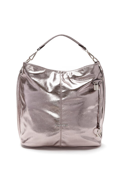 Frank Lyman - Faux Leather Bucket Bag, Grey, hi-res