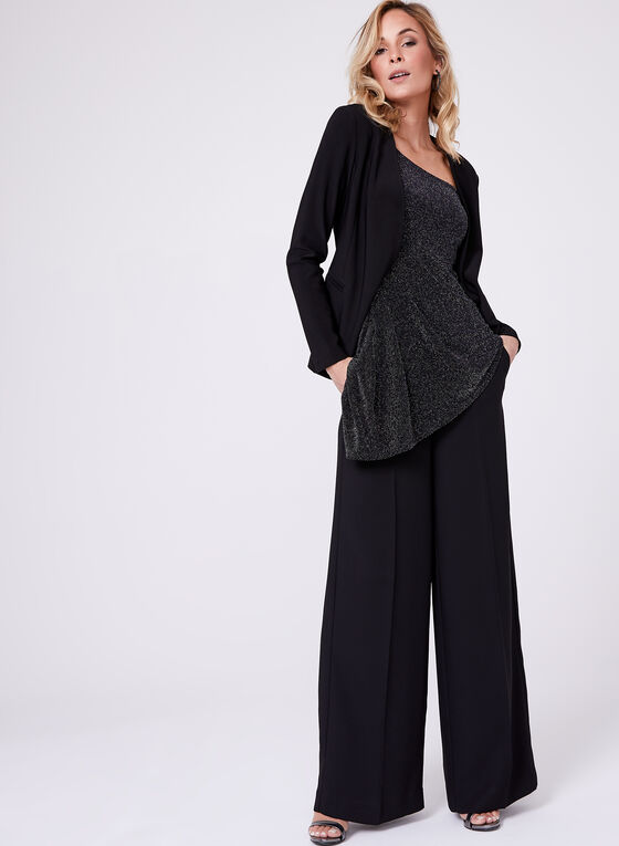 Frank Lyman - Open Front Jersey Blazer, Black, hi-res