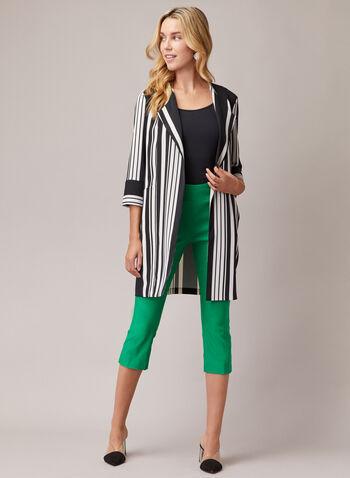 Slim Leg Pull-On Capris, Green,  capris, pull-on, bengaline, slim, spring summer 2020