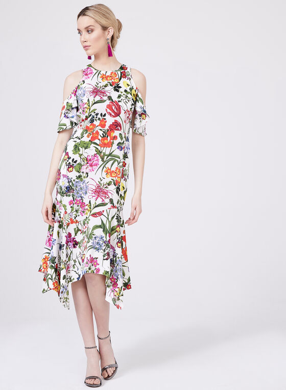 8c0b2345056 ... Maggy London - Floral Print Cold Shoulder Dress