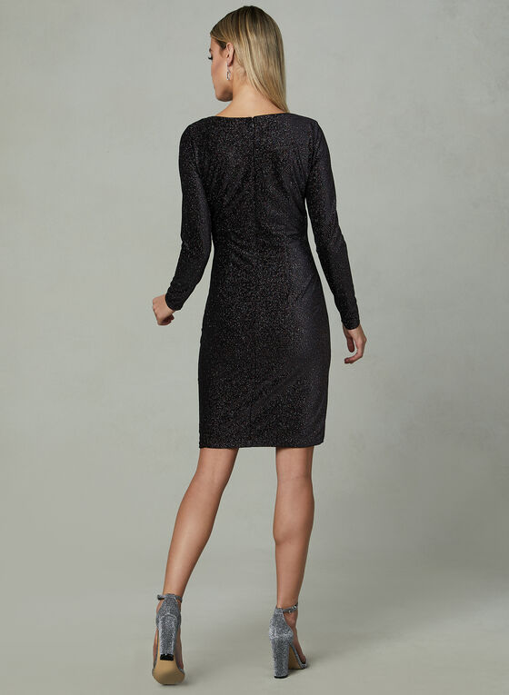 Aidan Mattox - Faux Wrap Dress, Multi, hi-res