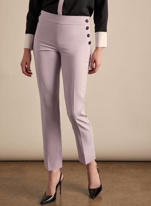 Amber Button Detail Pants, Purple