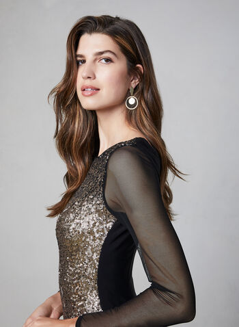Frank Lyman – Ombré Sequin Dress, Black,  evening dress, cocktail dress, sequin dress