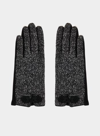 Bouclé Gloves, Grey,  gloves, fall 2019, winter 2019