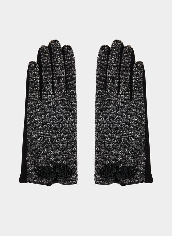 Bouclé Gloves, Grey