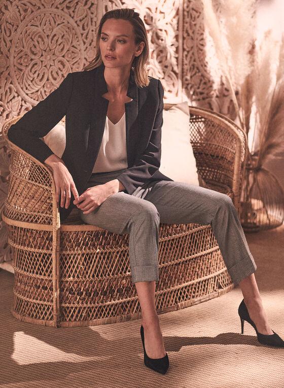 Pantalon Giselle aspect sergé, Noir