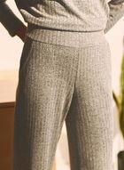 Pantalon en tricot à jambe large , Gris