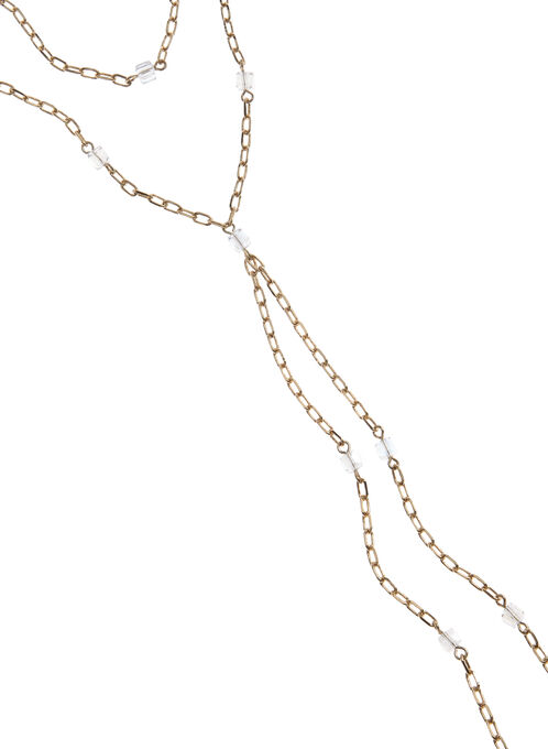 Multi-Strand Beaded Chain Necklace, Gold, hi-res