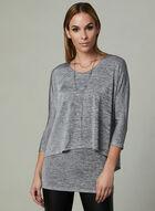 Layered Jersey Top, Grey, hi-res