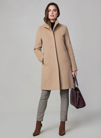 Mallia - Wool Blend Coat, Brown, hi-res,  Mallia, coat, wool, cashmere, fall 2019, winter 2019