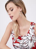 Compli K - Graphic Floral Print Blouse, Red, hi-res