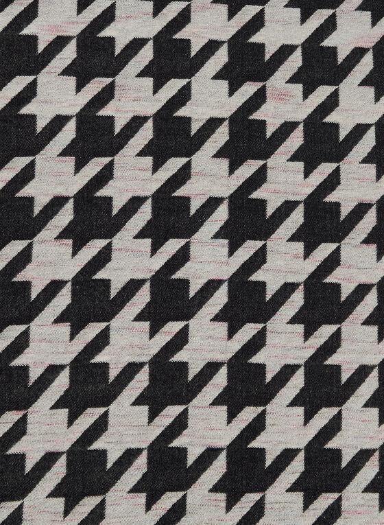 Houndstooth Pattern Scarf, Black