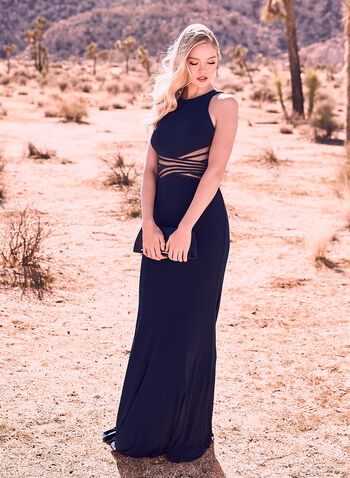 Terani Couture - Embellished Jersey Gown, Blue, hi-res,  Prom 2019, graduation, ball gown