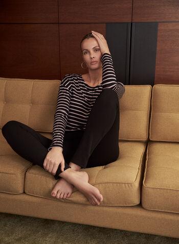 Pantalon à enfiler à jambe étroite, Noir,  pantalons, pantalon, bas, essentiel, basique, à enfiler, pull-on, jambe étroite, automne hiver 2021