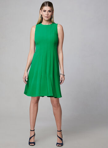 Julia Jordan - Paneled Crepe Dress, Green, hi-res