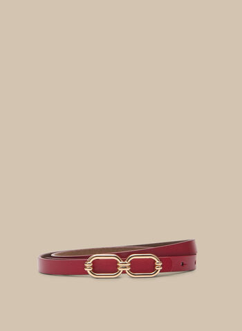 Metallic Buckle Belt, Pink,  spring summer 2020, buckle metallic finish, faux-leather