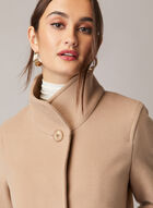 Mallia - Wool & Cashmere Blend Coat, Brown