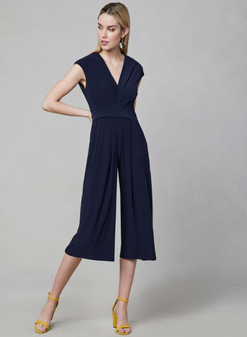 Maggy London - Wide Leg Jumpsuit, Blue, hi-res