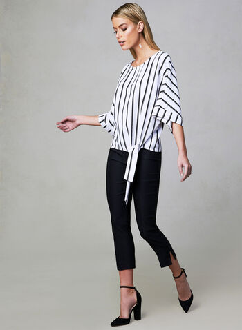 Frank Lyman - Stripe Print Top, White, hi-res
