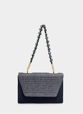 Glitter Trapezoid Purse, Blue,  flapover, satin, glitter, handheld, fall 2019, winter 2019