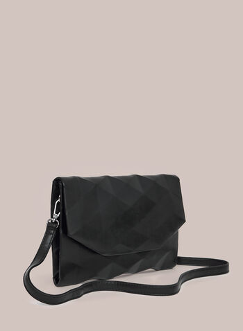 Geometric Clutch, Black,  clutch, flap, geometric, metallic, spring summer 2020