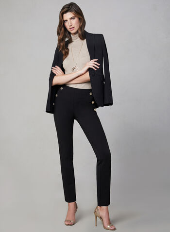 Slim Leg Madison Pants, Black, hi-res,  fall winter 2019, ponte di roma, leggings, slim leg