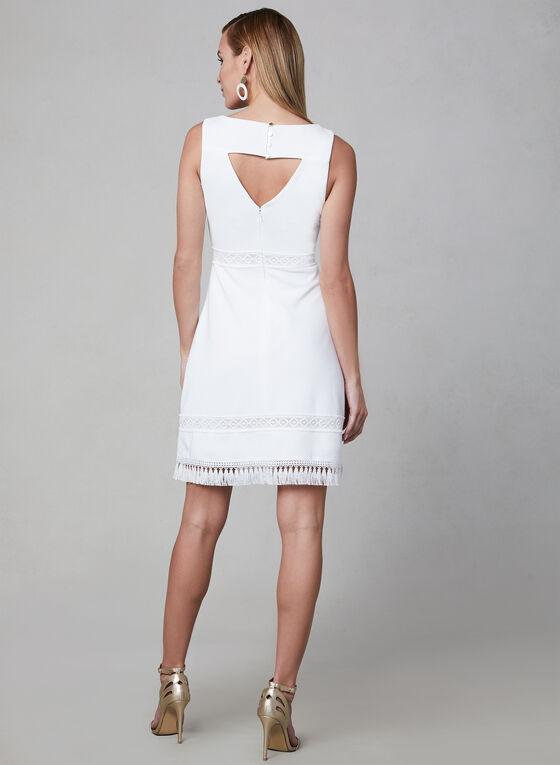 Kensie - Sleeveless Ottoman Dress, White, hi-res
