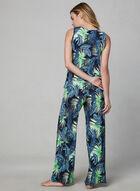 Pyjama 2 pièces à imprimé tropical, Vert, hi-res