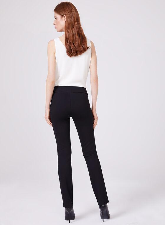 Madison Pull-On Slim Leg Pants, Black, hi-res