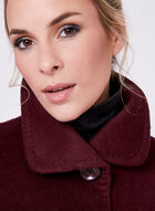 Ellen Tracy - Wool & Angora Blend Coat, Red, hi-res