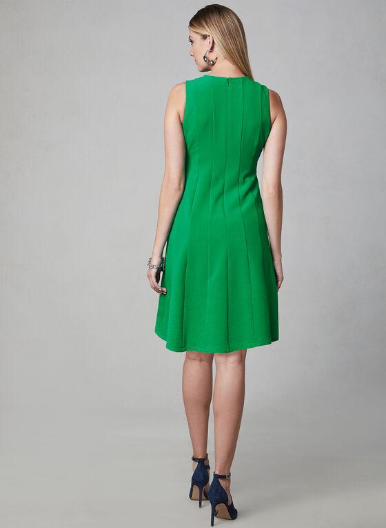 Julia Jordan - Paneled Crepe Dress, Green, hi-res