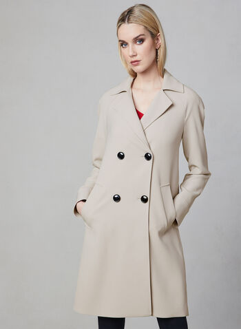 Nuage - Notch Collar Trench, Off White, hi-res