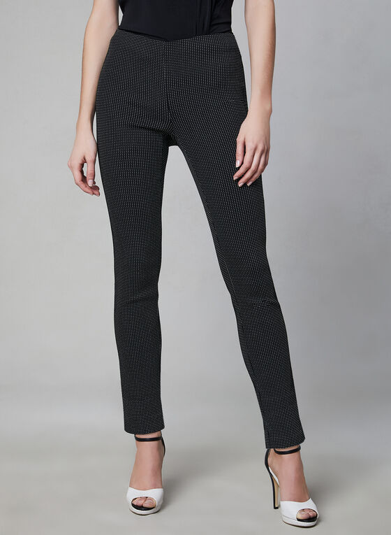 Slim Leg Pull-On Pants, Black