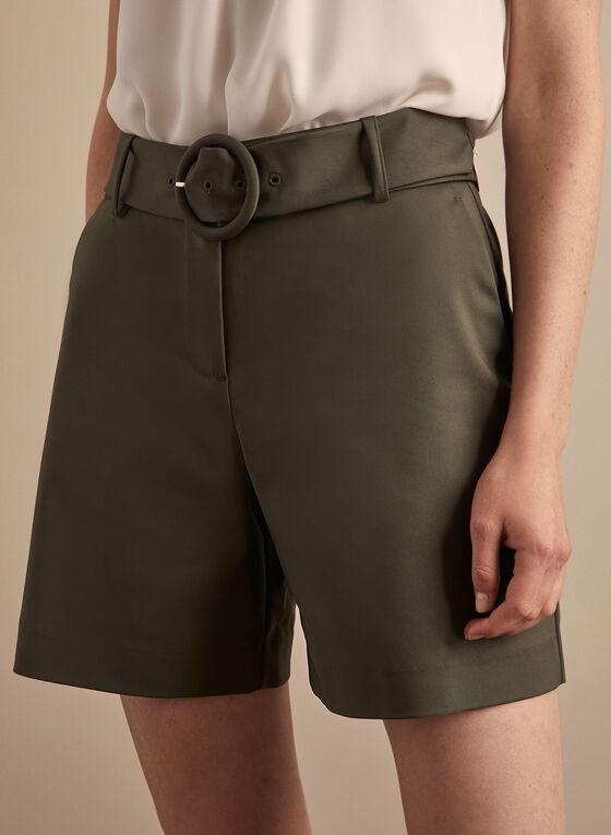 Short à poches et ceinture , Vert