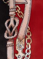 Foulard bi-matière, Rouge