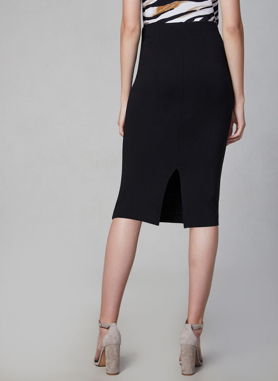 Pull-On Pencil skirt, Black