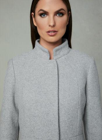 Karl Lagerfeld Paris - Manteau avec col perlé amovible, Gris, hi-res