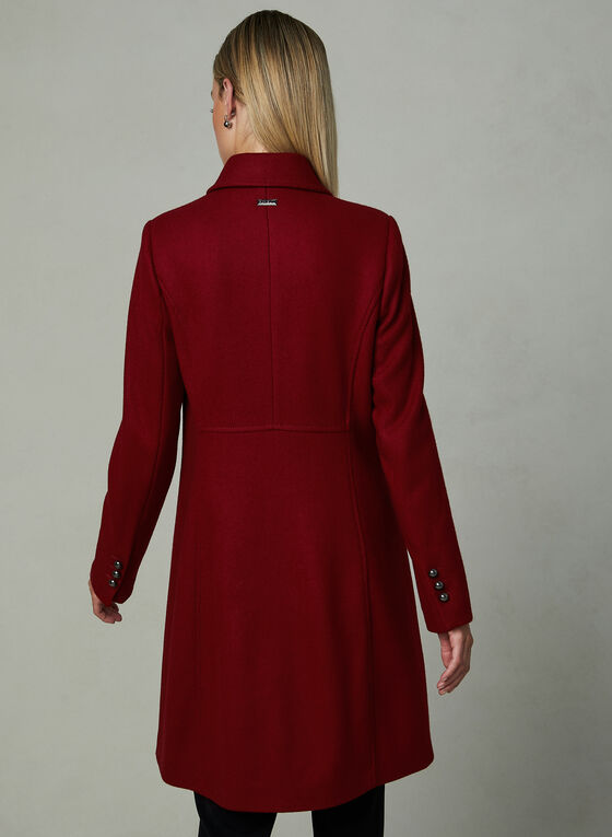 Novelti - Manteau col à revers et simple boutonnage, Rouge