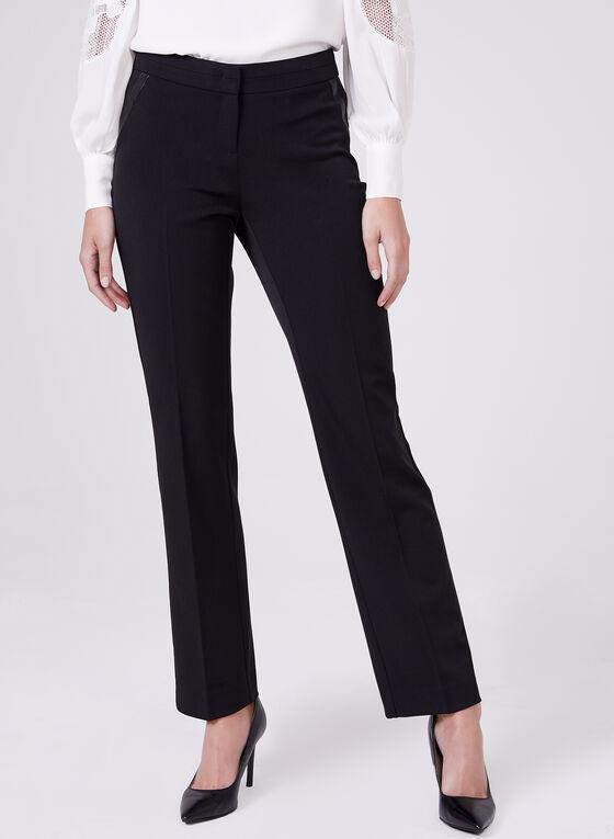 Straight Leg Lauren Petite Pants, Black, hi-res