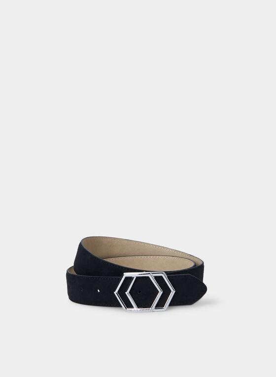 Vince Camuto - Geometric Buckle Belt, Black