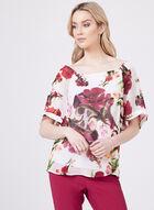 Floral Print Off The Shoulder Blouse, Black, hi-res