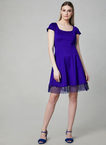 Donna Ricco - Fit & Flare Dress, Blue, hi-res