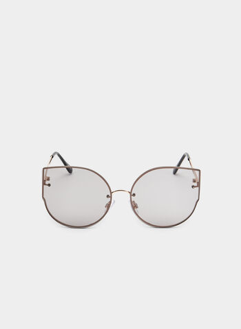 Wire Frame Sunglasses, Grey, hi-res