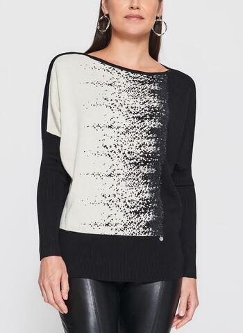 Vex - Speckle Print Dolman Sleeve Sweater, , hi-res